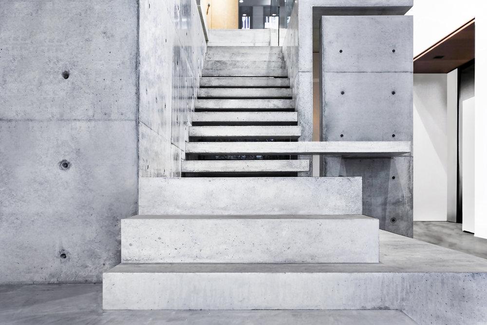 清水模,樓梯,毛森江,商空設計