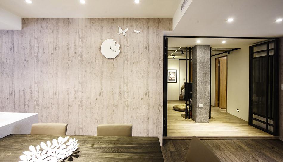 室內設計以清水模壁紙展現高質感
