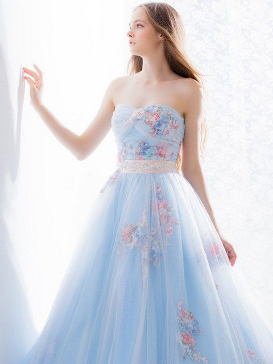 Light Blue And White Wedding Dresses Spotted At Bridal Fashion