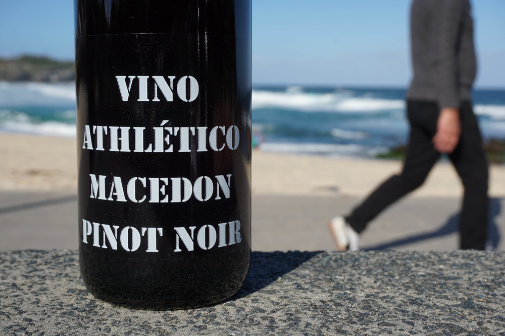 2016 Athletes Of Wine 'Vino Athlético' Pinot Noir   Organic Practices  Vineyard: Kyneton, Macedon Ranges Clone: Mostly D5V12, some MV6 Harvest: 08th March; 2.4 ton/acre  Wild yeast; aged on full lees, no whole bunch; ferment was lightly plunged or wet once per day to minimise extraction; 10 months in old oak; only racked at bottling; bottled unfined and unfiltered. 70ppm total SO2 added  at bottling  Total production: 336 dozen