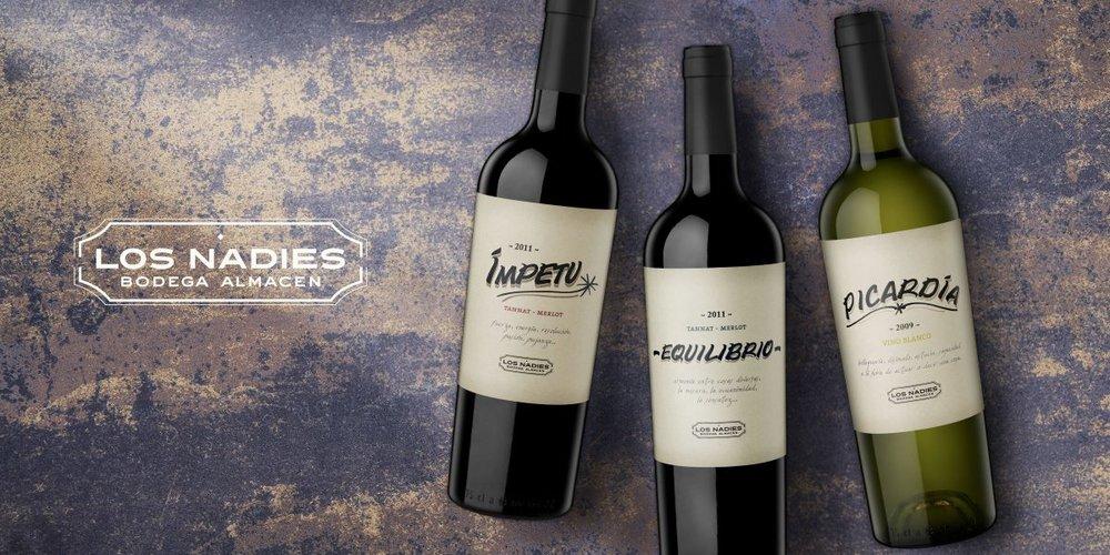 2009 Los Nadies Picardia (Skin macerated Chardonnay & Gewurztraminer) 2011 Los Nadies Equilibrio (Tannat and Merlot) 2015 Los Nadies Equilibrio (Tannat and Malbec) 2011 Los Nadies Impetu (Tannat et al.)
