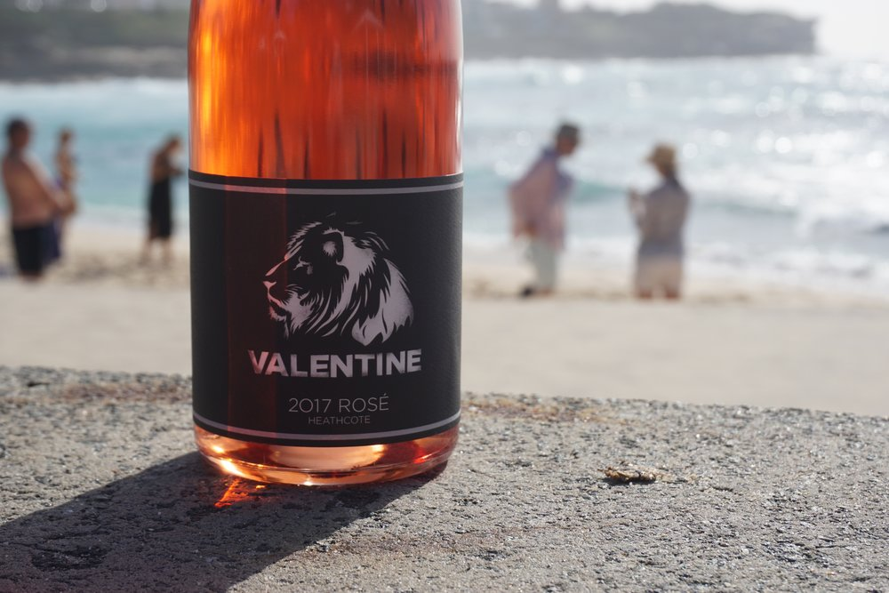 2017 Valentine Rosé 2T/acre hand-picked  Sourced and handpicked from Mount Camel Range, Heathcote (near Colbinabbin) at 160m elevation on Cambrian Red soils, this rosé is a one barrel saignee from the whole-berry Grenache ferment. Barrel fermented and full malolactic fermentation in oak and kept on gross lees.  The wine is then racked twice and bottled without fining or filtration and total of 60ppm sulphur.