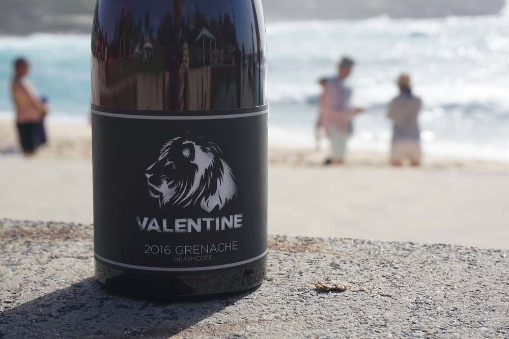 2016 Valentine Grenache 2T/acre hand-picked  Sourced and handpicked from Mount Camel Range, Heathcote (near Colbinabbin) at 160m elevation on Cambrian Red soils and refrigerated for 2 days.  While 400kgs remained as whole bunches for whole bunch fermentation; 2.5T was destemmed and a few whole bunches remained in the ferment. A two week wild fermentation occured and then treated similar to a Pinot Noir with minimal phenolic extraction with just single punch downs daily. This was followed by a two week post-ferment maceration until finally pressed to barrel for malolactic fermentation.  6 month maturation in old French oak barriques. Racked twice and sent to bottle with no filtration or fining with a total of 55ppm sulphur.  Please note, whilst we have good stocks of the '16 they are allocating fast. 2017 went to bottle around 4-5 weeks ago and is ready for release also.