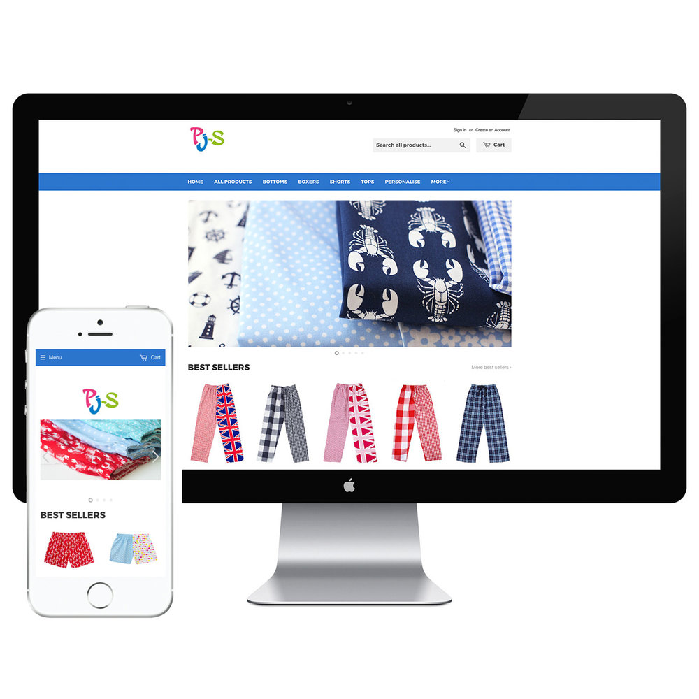 Pj-s Pyjamas Shopify Storefront | Bad Dog Digital