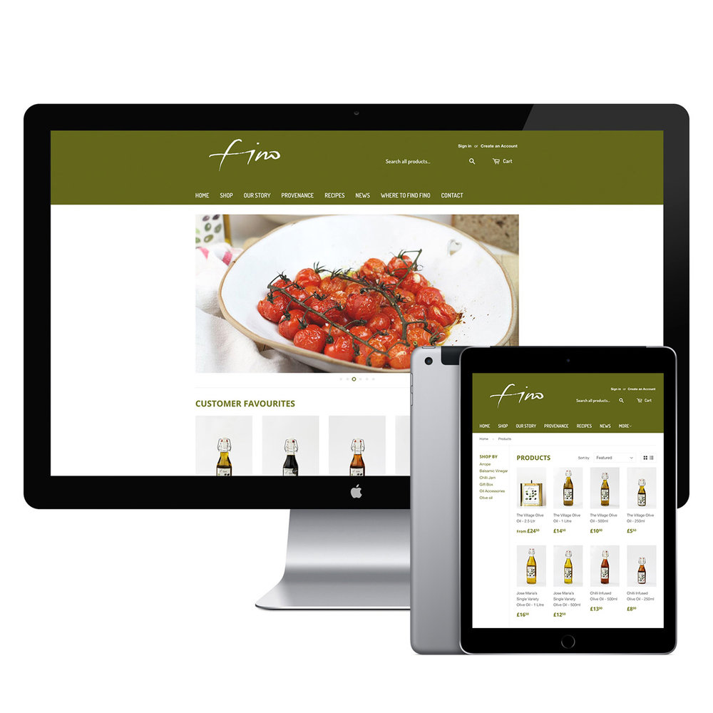 Fino Olive Oil Shopify Storefront | Bad Dog Digital