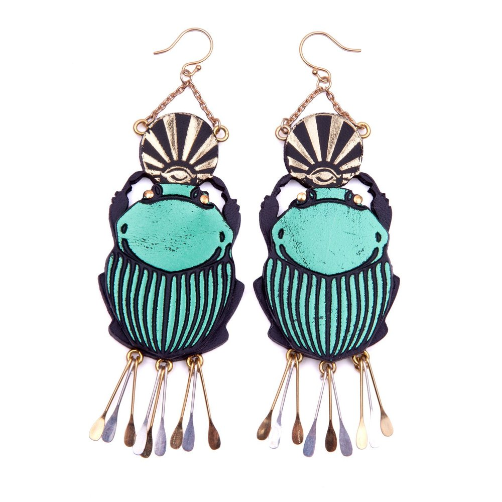 Rosita Bonita - Scared Scarab Earrings