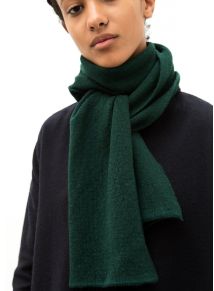 The Acey - Dark Green Merino Wool Scarf