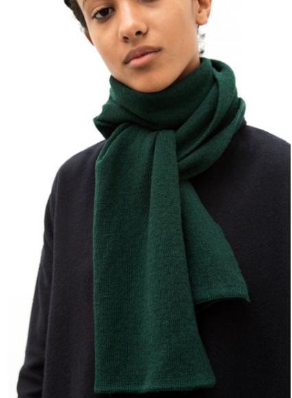 The Acey - Dark Green Merino Wool Scarf