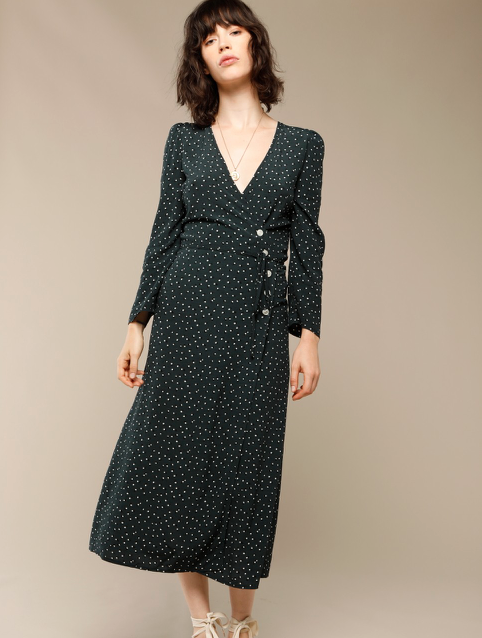 Rouje - Gabin Dress with Dots Print