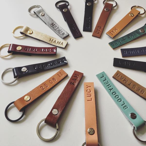 Konoc - Personalised Leather Keychains