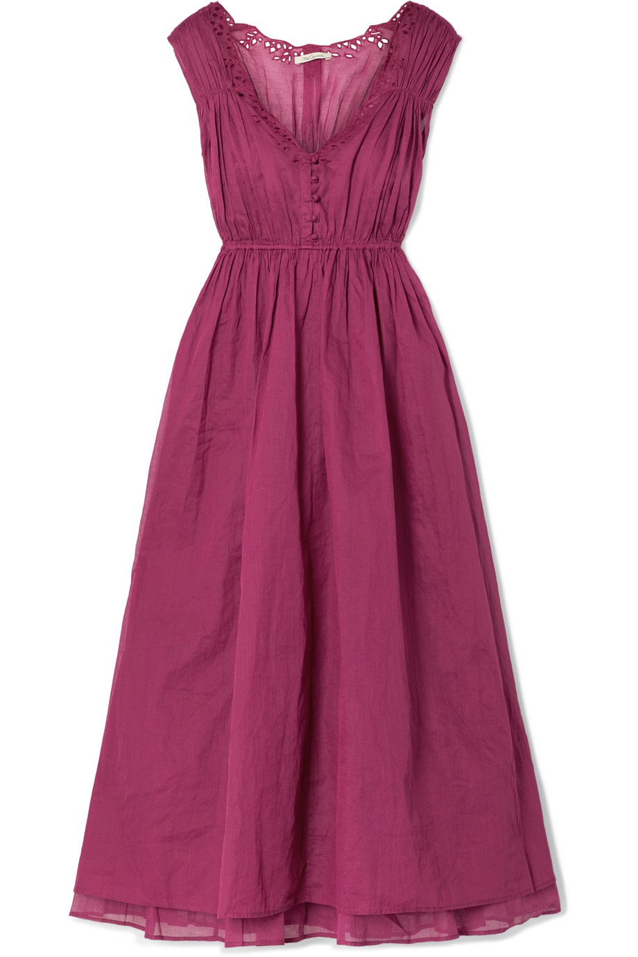 Mes Demoiselles Clothide broderie anglaise cotton-voile midi dress
