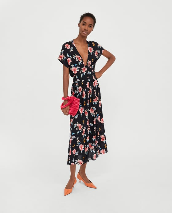 Zara Long Printed Dress