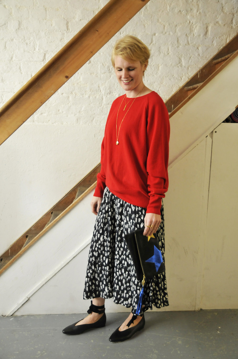 Maske Jumper and Skirt  Sarah Baily Bag  Miista Shoes