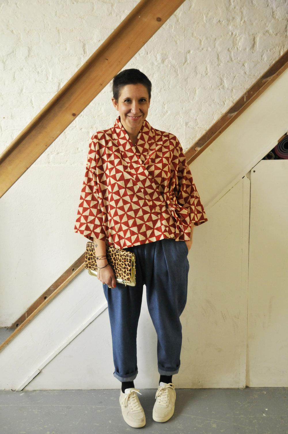 Olive Loves Alfie Kimono  Kelly Ekardt Denim Trousers  Veja Trainers
