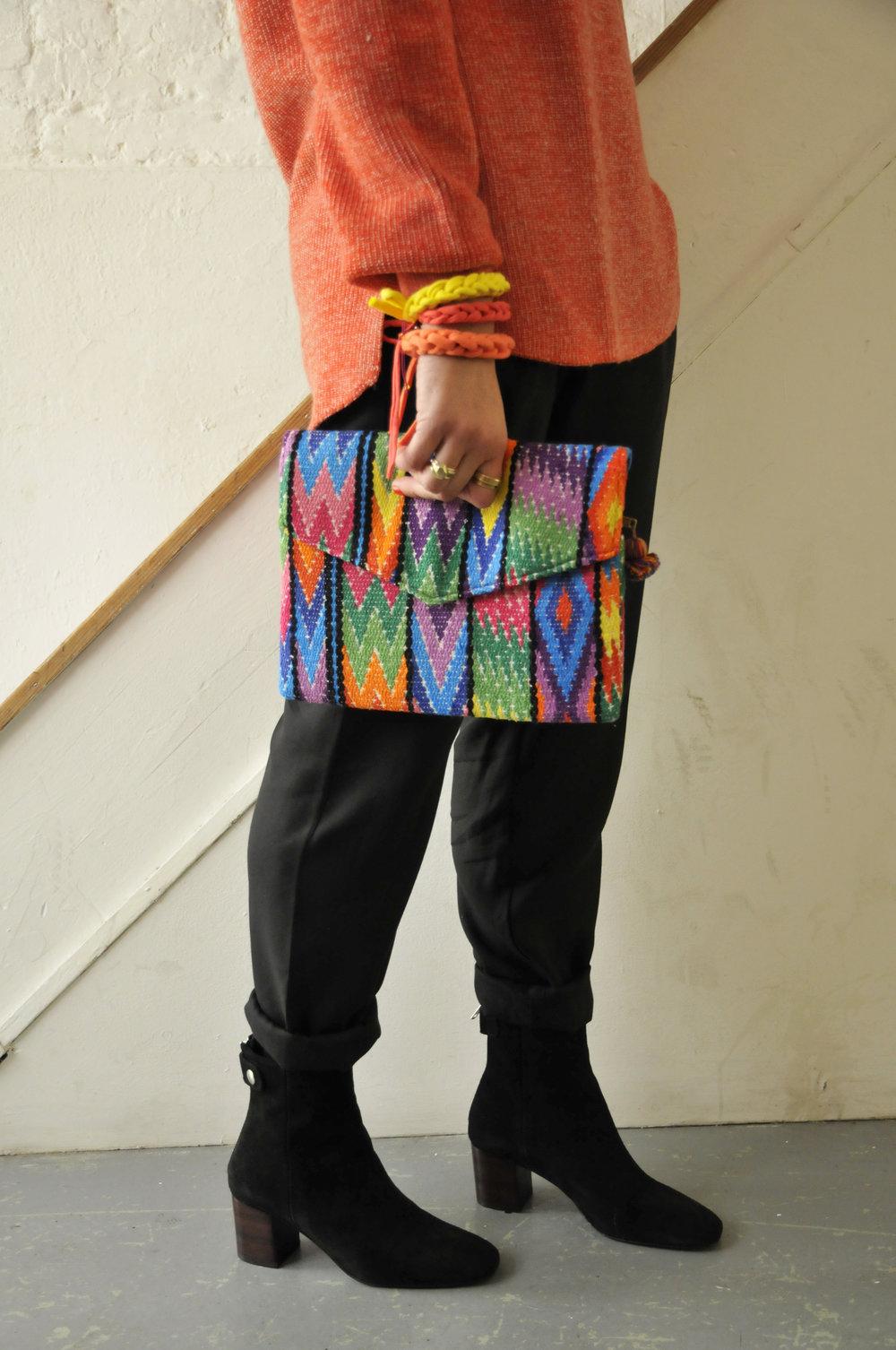 Knit Planet Jumper  Maske Trousers  Seven Boot Lane Boots  Golly Gumdrop Bracelets  Maya London Bag