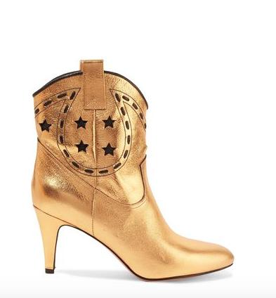 Marc Jacobs Georgina Metallic Leather Ankle Boots