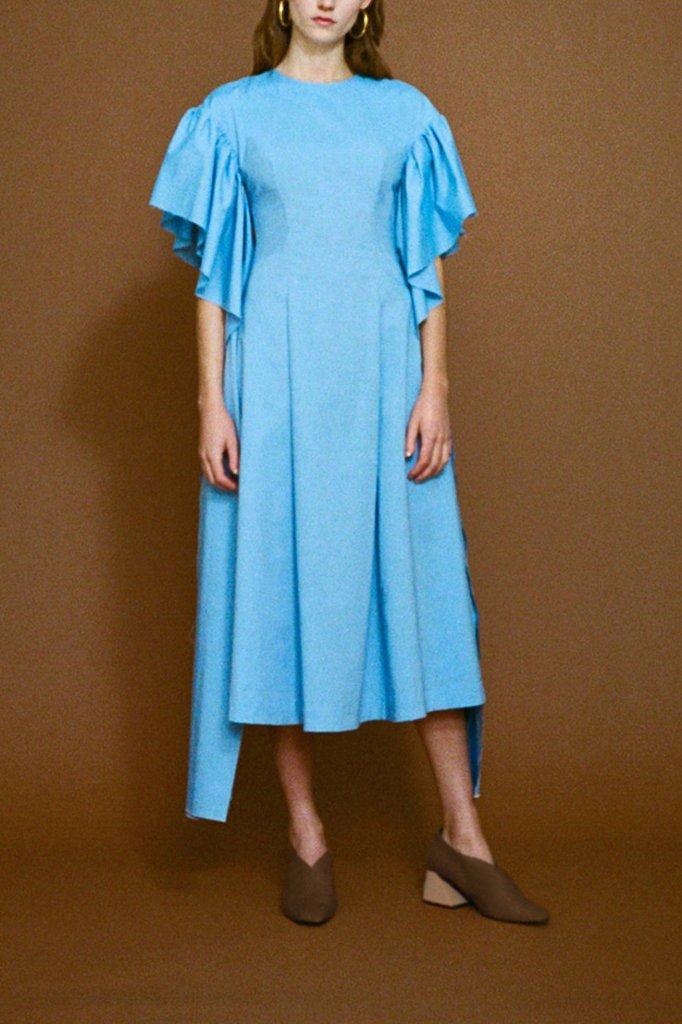 Rejina Pyo Grace Chambray Long Strip Sleeve Dress