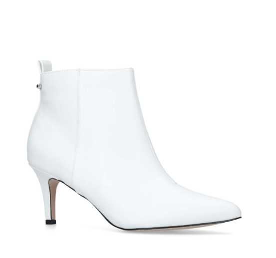 Miss KG Tiana White Ankle Boots