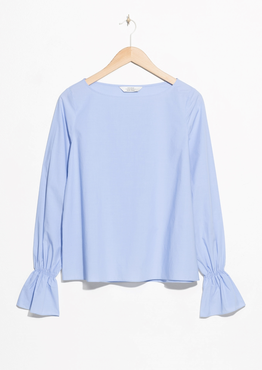 & Other Stories Trumpet Sleeve Top