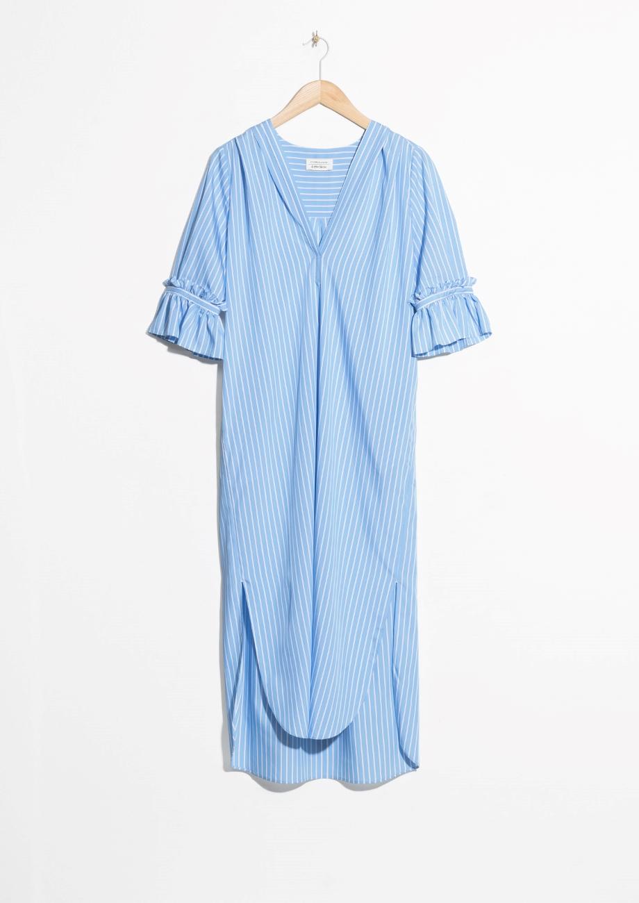 & Other Stories Frill Sleeve Shirt Dress