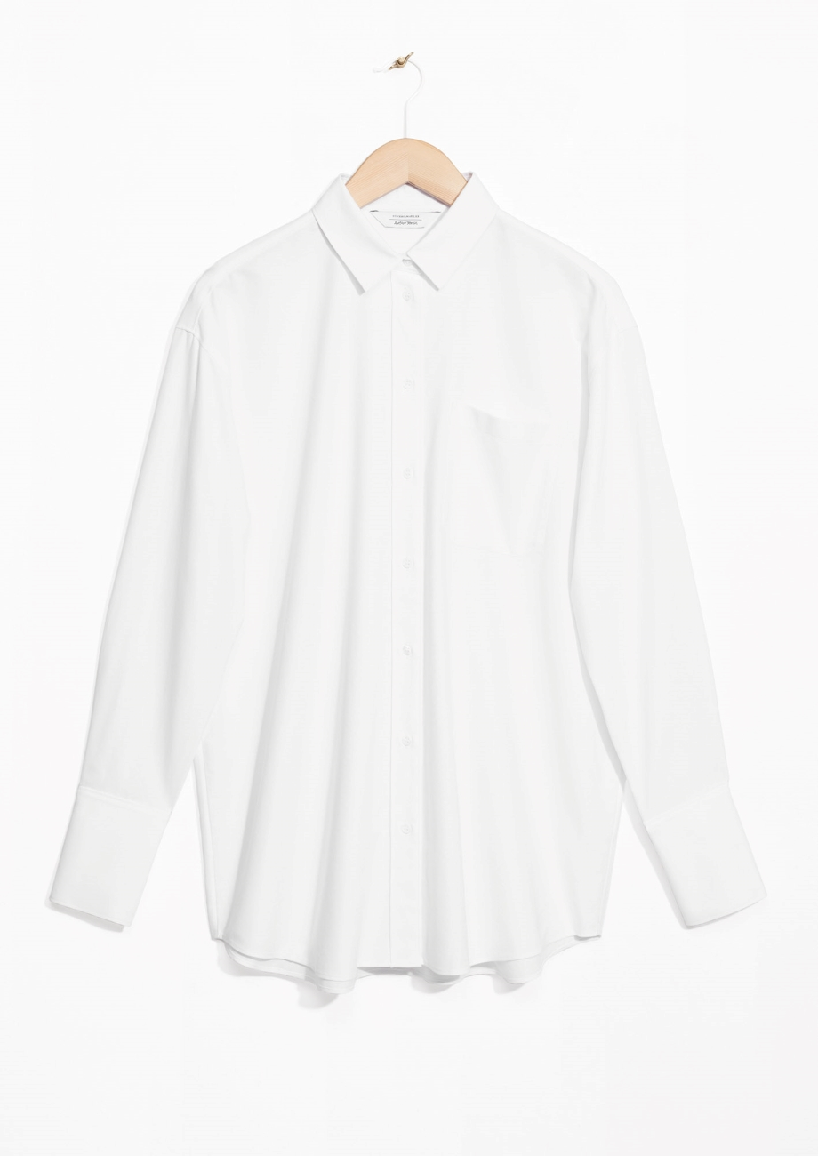 & Other Stories Oversized White Shirt
