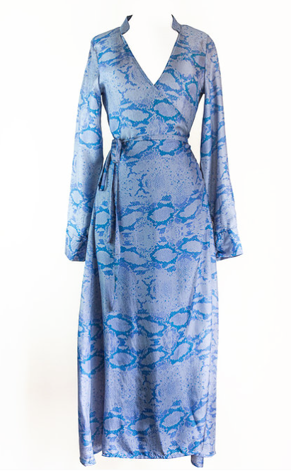 Cornflower Snake Print 'Alice' Dress