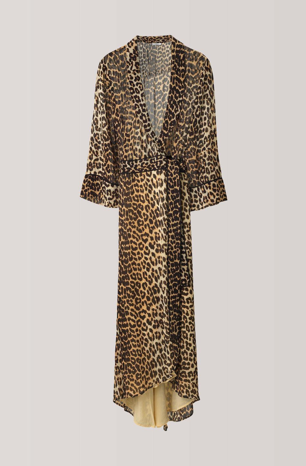 Ganni Fairfax GeorgetteWrap Dress