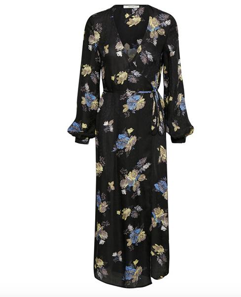 Gestuz Aia Spring Floral Wraparound Maxi Dress