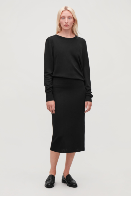 COS Stretch-knit Pencil Skirt