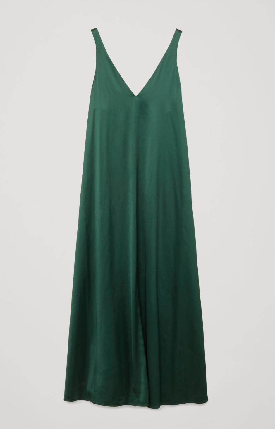 COS Green Satin Dress