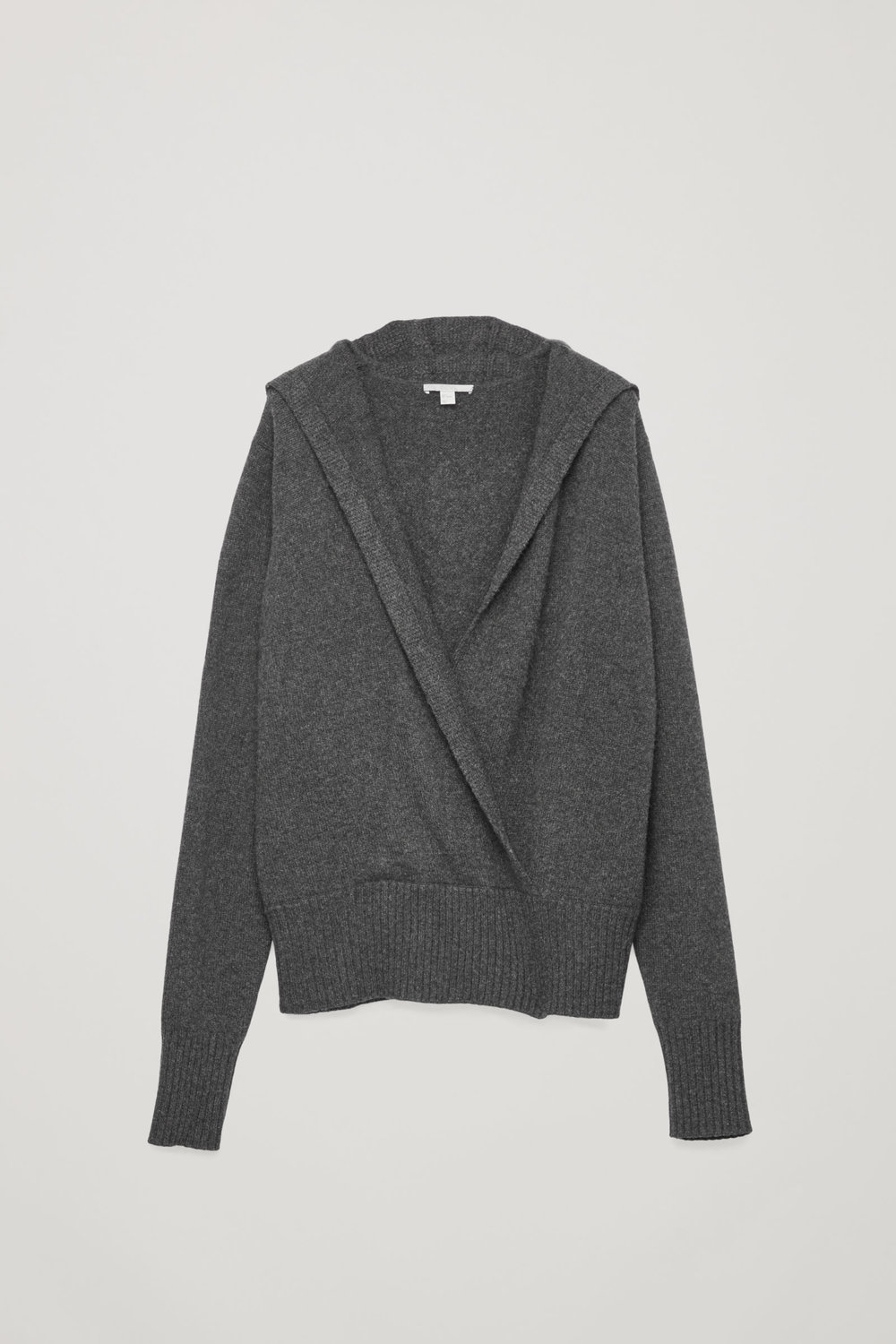 COS Cashmere Hooded Jumper