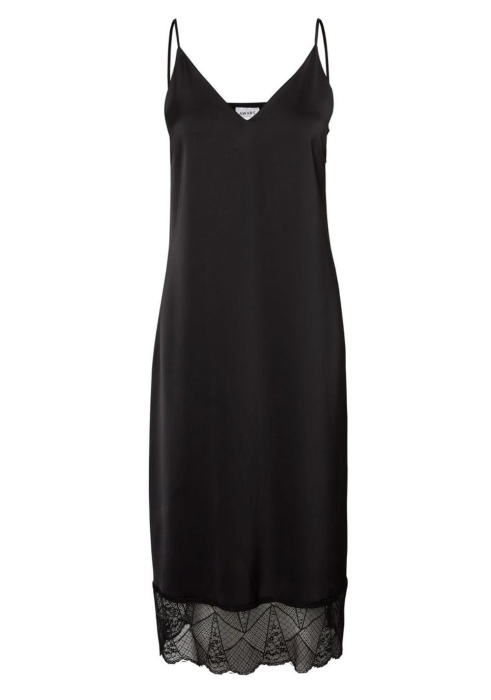 Vero Moda Black Slip Dress - from Born at Dawn