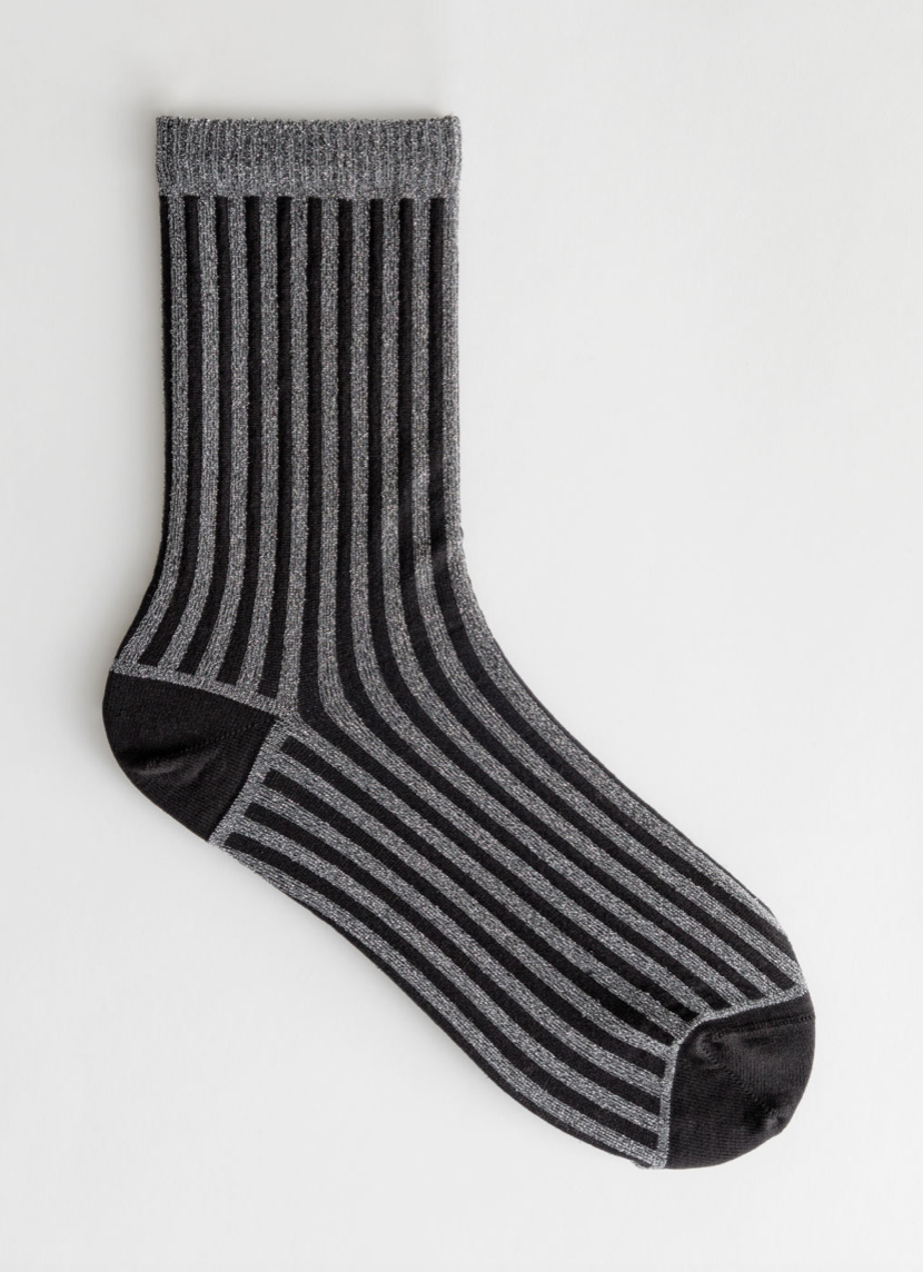 & Other Stories Stripe Glitter Socks