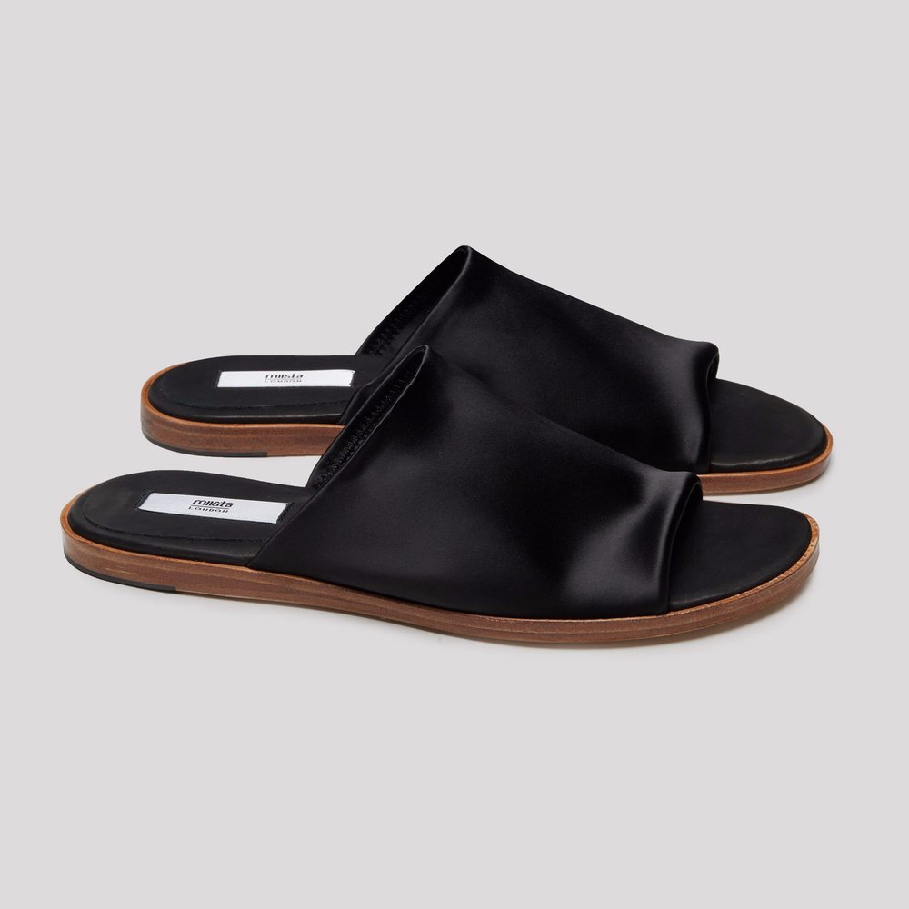 Miista Agnes Black Lyrca Sandals