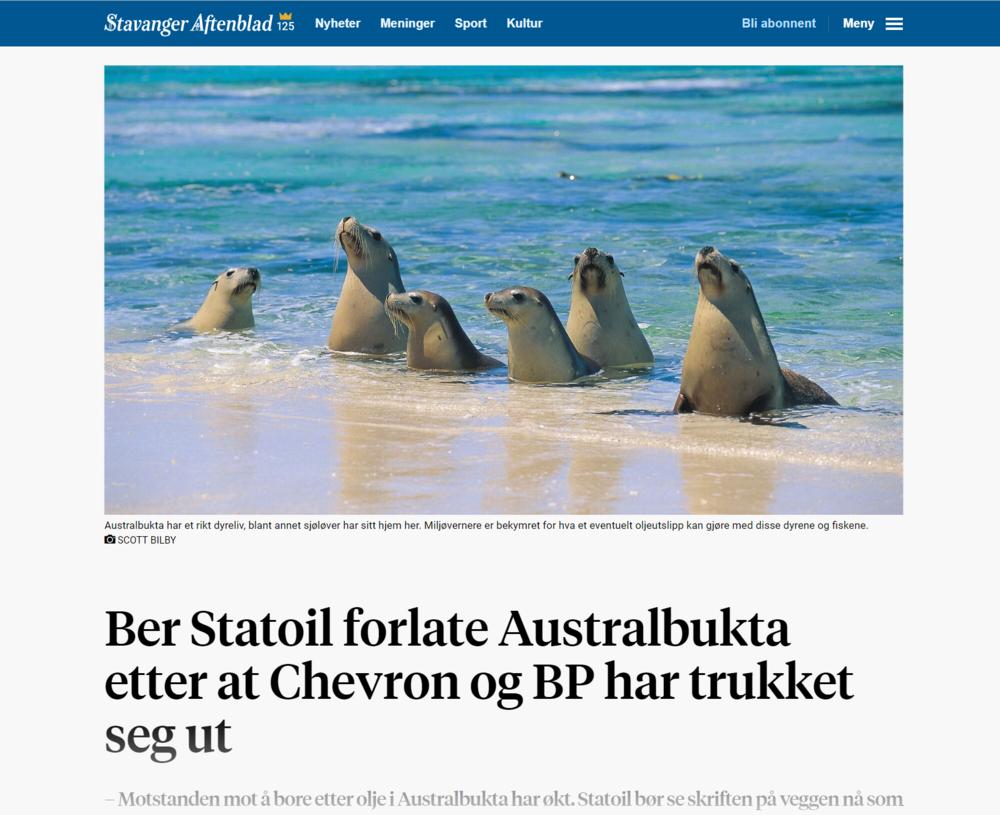 Aftenbladet Equinor
