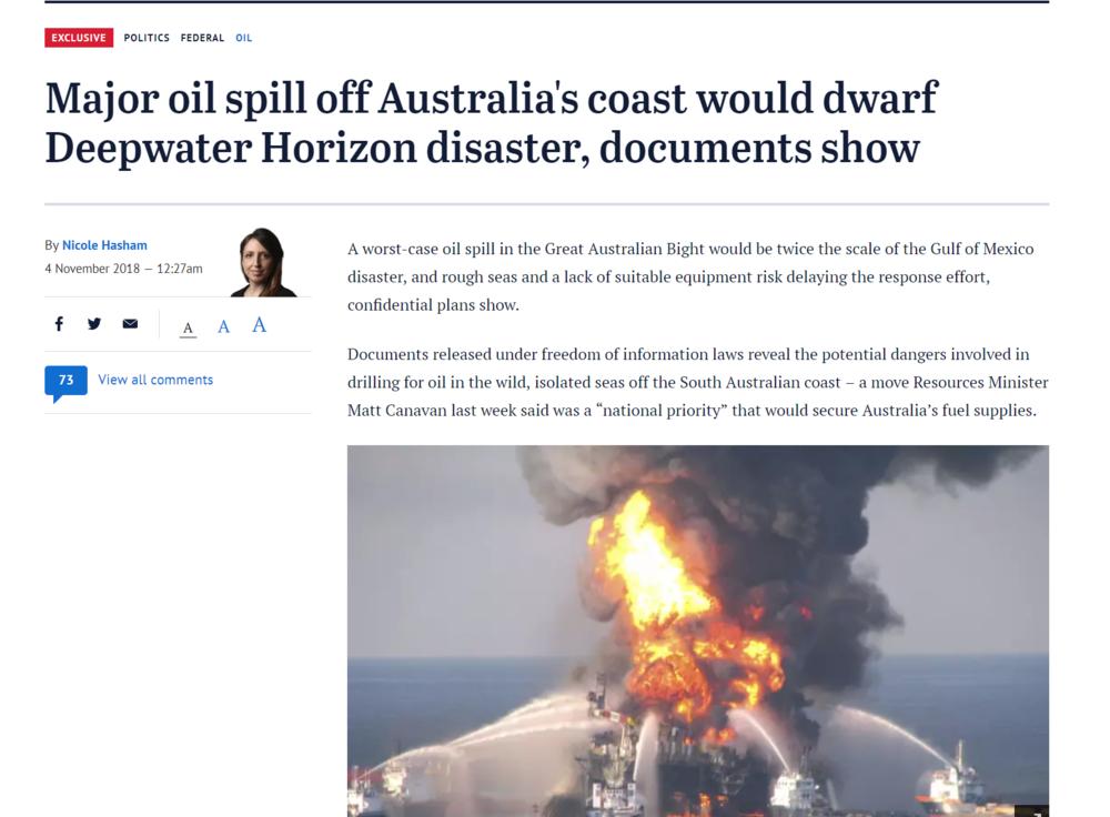 Spill in the Bight would dwarf BP Deepwater Horizon