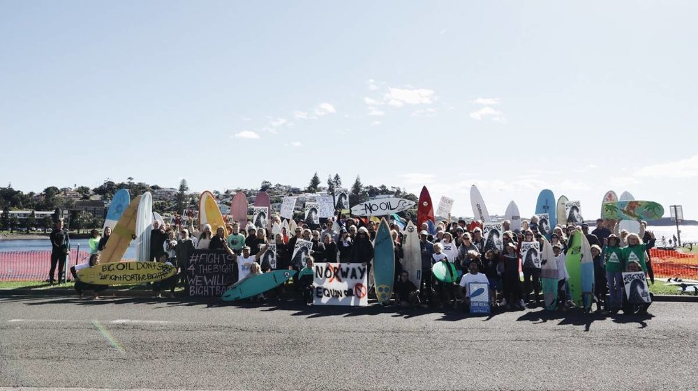 Protesters at Kiama Harbour. Picture: Andy Gray.