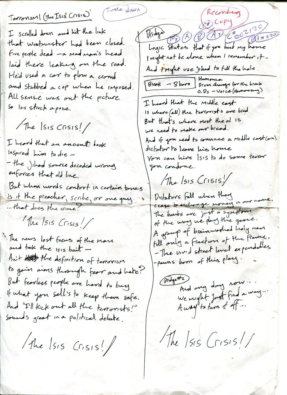L.A. Salami – Terrorism! (The Isis Crisis) Lyrics