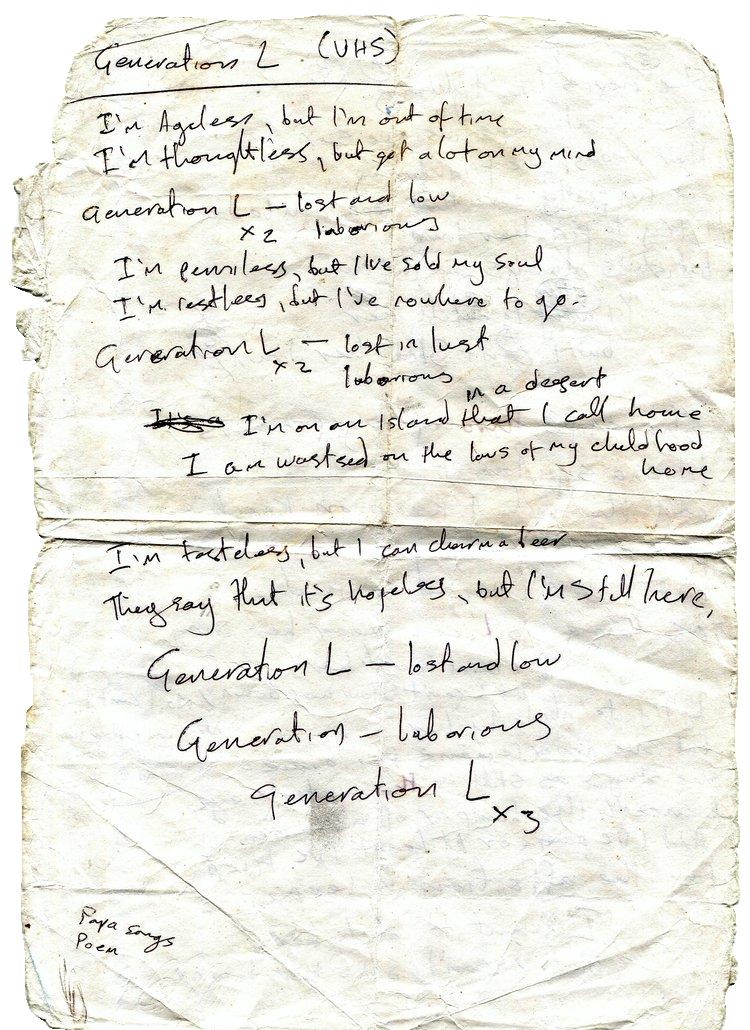 L.A. Salami – Generation L(ost) Lyrics
