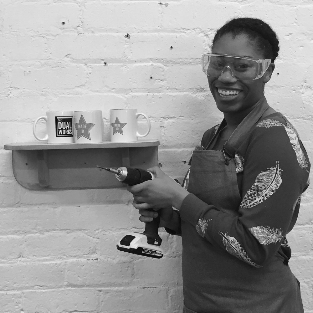 I made it  - girls with power tools at Dual Works 14.jpg