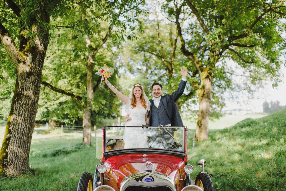 Hochzeit mit Samuel Schmidt im August 2016 -Foto: Caroline Dyer-Smith