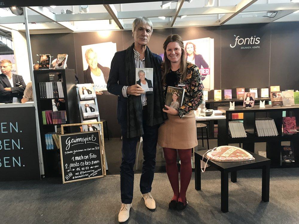 Mit Klaus Gerth an der Frankfurter Buchmesse Oktober 2017