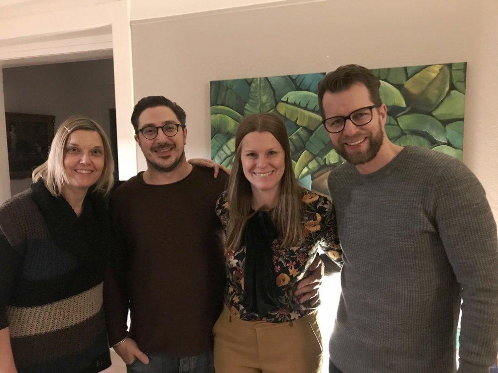 Mit Susanne und Stefan von Rüti, Nordufer Gemeinde Meilen und Samuel Schmidt, Ehemann im Februar 2018