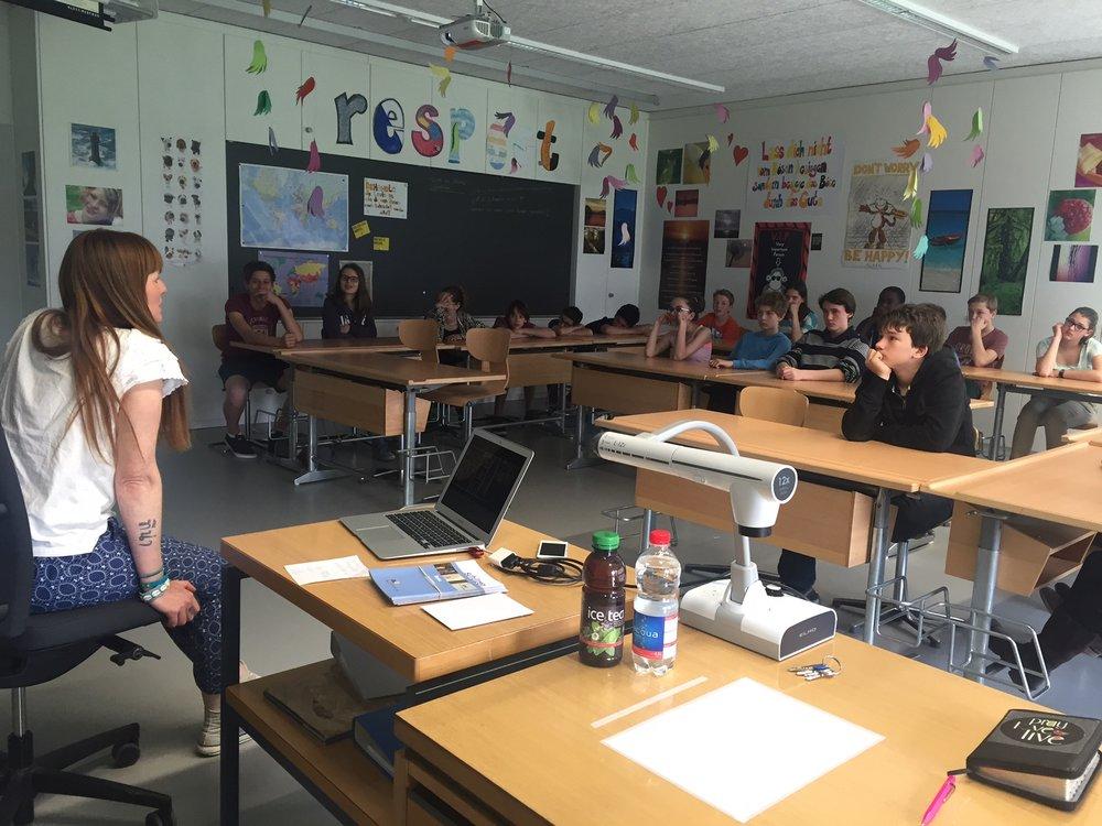 Im Religionsunterricht der Oberstufe in Stäfa 2015