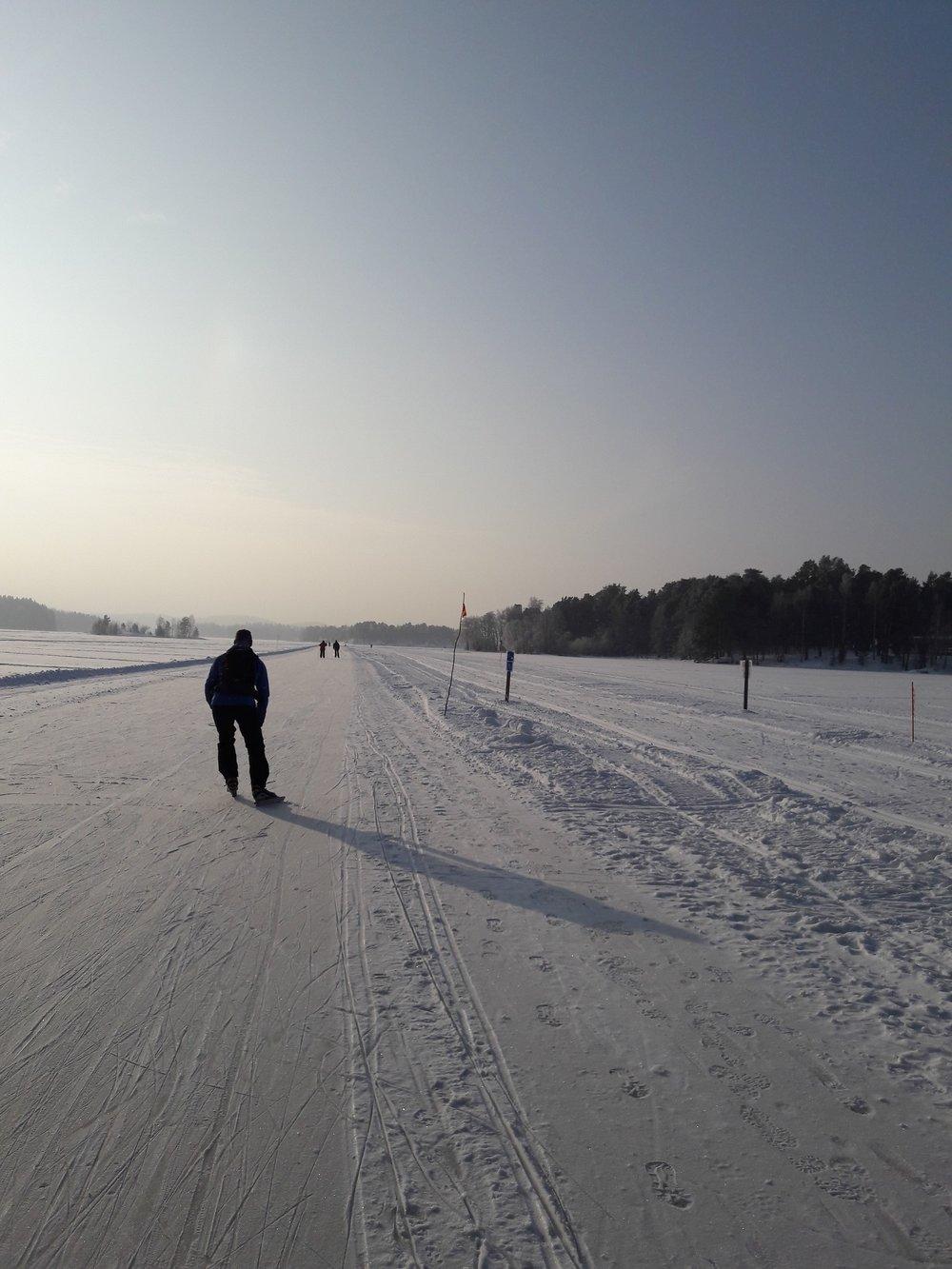 Retkiluistelua Kuopiossa