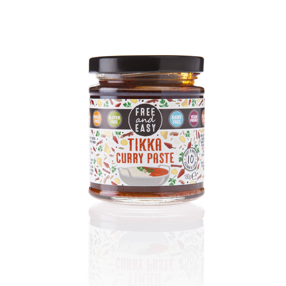 Free and Easy Tikka Curry Paste - A delicious blend of coriander, tamarind and paprika.190g