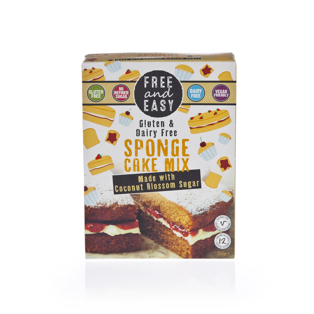Free and Easy Sponge Cake Mix - Made with coconut blossom sugar.