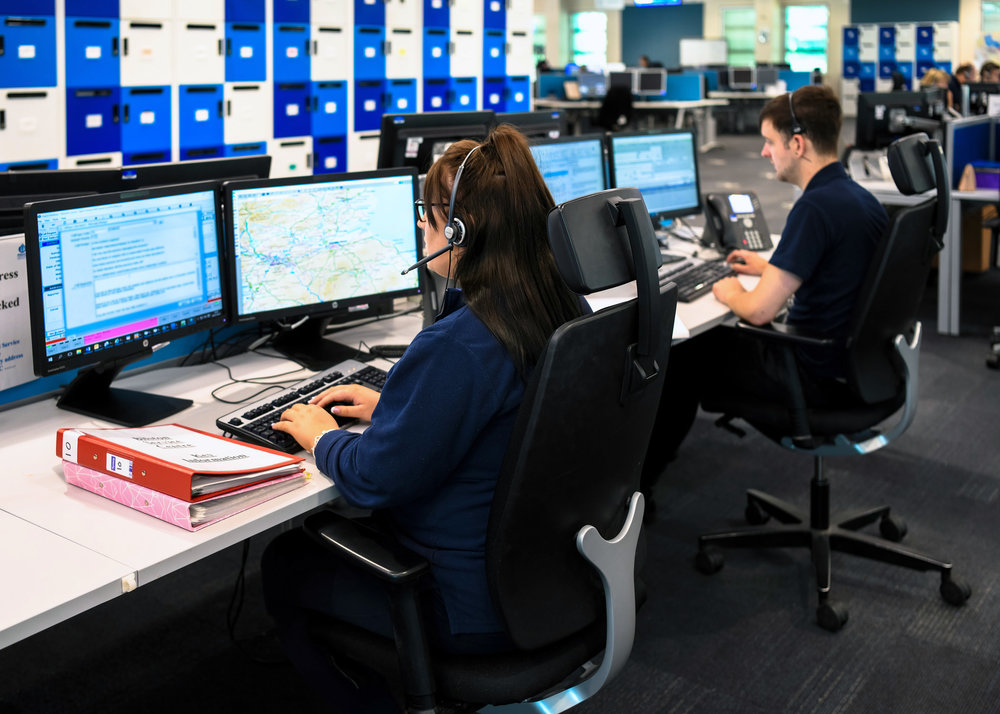 Call handlers working for Police Scotland, one of the many emergency services organisations supporting the 2019 APD Control Room Awards.
