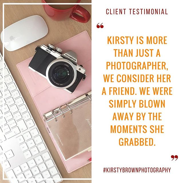 The biggest compliment ever! Getting to know my clients before the wedding helps us all relax and have fun on the day . . #kirstybrownphotography #wedding #photographer #friend #client #testimonial #feedback #dundee