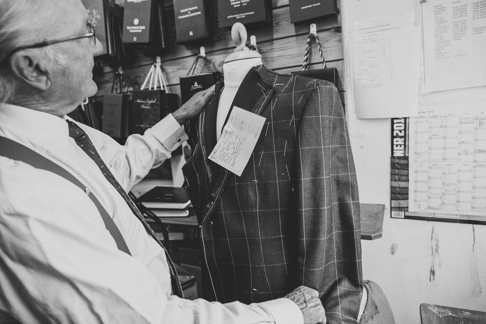 ABOUT CROSLAND TAILORING - Hand crafting bespoke menswear for over 50 years